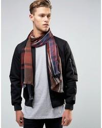 Мужской разноцветный шарф в шотландскую клетку от Esprit
