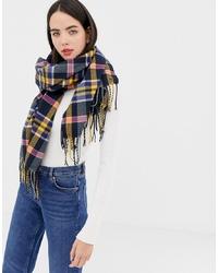 Женский разноцветный шарф в шотландскую клетку от Esprit