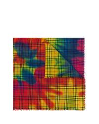 Женский разноцветный шарф с принтом тай-дай от Burberry