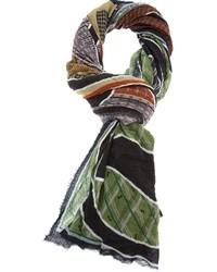 Разноцветный шарф с принтом