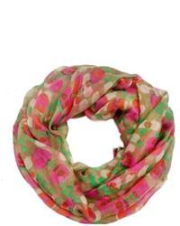 Женский разноцветный шарф с принтом