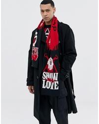 Мужской разноцветный шарф с принтом от Cheap Monday