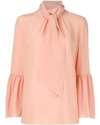 Розовая блузка с длинным рукавом от Fendi