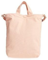 Розовая большая сумка из плотной ткани