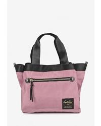 Розовая большая сумка из плотной ткани от Legato Largo