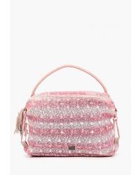 Розовая большая сумка из плотной ткани от Nano de la Rosa