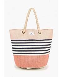 Розовая большая сумка из плотной ткани от Roxy