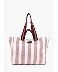 Розовая большая сумка из плотной ткани от s.Oliver