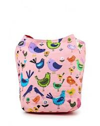Розовая большая сумка из плотной ткани от Venera