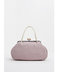 Розовая большая сумка из плотной ткани от Weekend Max Mara