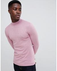 Мужская розовая водолазка от ASOS DESIGN