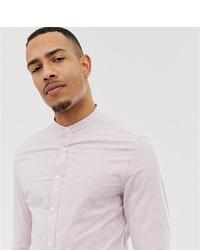 Мужская розовая классическая рубашка в вертикальную полоску от ASOS DESIGN