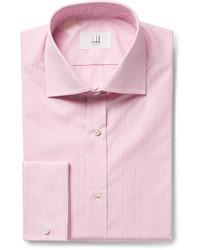 Мужская розовая классическая рубашка в вертикальную полоску от Dunhill