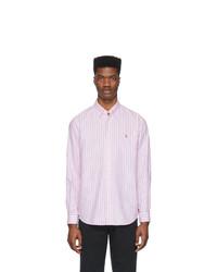 Мужская розовая классическая рубашка в вертикальную полоску от Polo Ralph Lauren