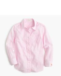 Розовая классическая рубашка