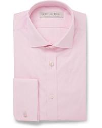 Мужская розовая классическая рубашка