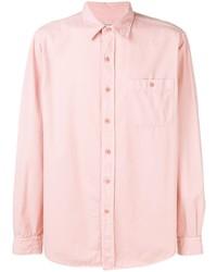 Мужская розовая классическая рубашка от Ami Paris