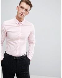 Мужская розовая классическая рубашка от ASOS DESIGN