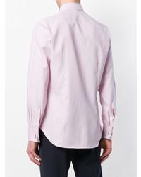Мужская розовая классическая рубашка от Canali