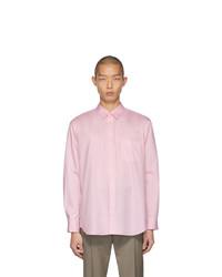 Мужская розовая классическая рубашка от Comme Des Garcons SHIRT