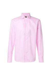 Мужская розовая классическая рубашка от Corneliani