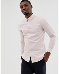 Мужская розовая классическая рубашка от Farah