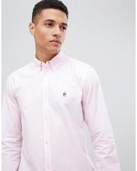 Мужская розовая классическая рубашка от French Connection