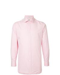 Мужская розовая классическая рубашка от Gieves & Hawkes