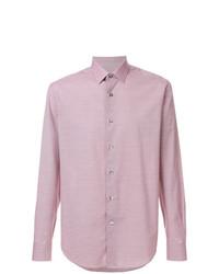 Мужская розовая классическая рубашка от Lanvin