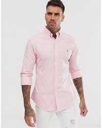Мужская розовая классическая рубашка от Polo Ralph Lauren