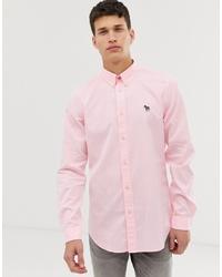 Мужская розовая классическая рубашка от PS Paul Smith