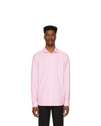 Мужская розовая классическая рубашка от Ralph Lauren Purple Label