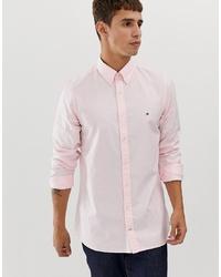 Мужская розовая классическая рубашка от Tommy Hilfiger
