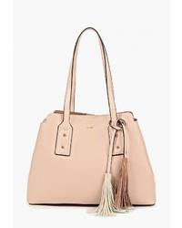Розовая кожаная большая сумка от Aldo