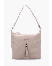 Розовая кожаная большая сумка от Alessandro Birutti