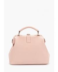 Розовая кожаная большая сумка от Alexander Tsiselsky