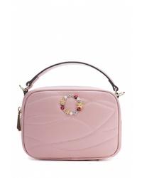 Розовая кожаная большая сумка от Artio Nardini