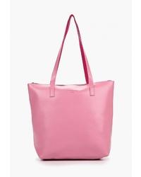 Розовая кожаная большая сумка от Camomilla Italia