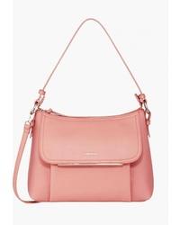 Розовая кожаная большая сумка от Fiorelli