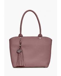 Розовая кожаная большая сумка от Labbra