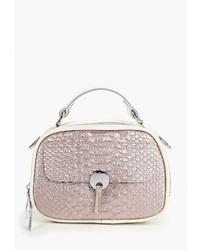 Розовая кожаная большая сумка от Labella Vita