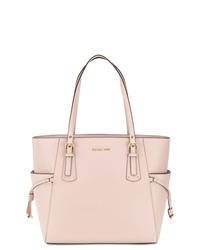 Розовая кожаная большая сумка от MICHAEL Michael Kors