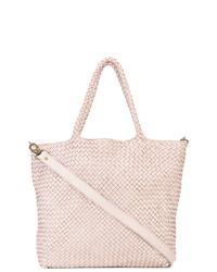 Розовая кожаная большая сумка от Officine Creative