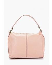 Розовая кожаная большая сумка от Roberto Buono