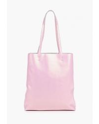 Розовая кожаная большая сумка от Roberto Jolini