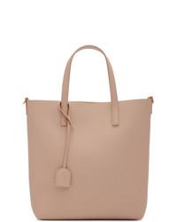 Розовая кожаная большая сумка от Saint Laurent