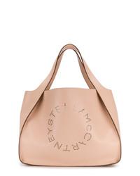 Розовая кожаная большая сумка от Stella McCartney