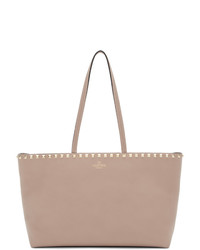 Розовая кожаная большая сумка от Valentino