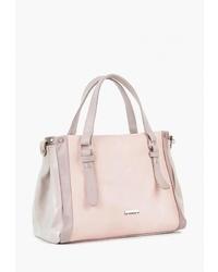 Розовая кожаная большая сумка от Vita