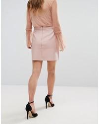 3888bf88c7e2 Розовая кожаная мини-юбка от New Look, 1 237 руб.   Asos   Лукастик